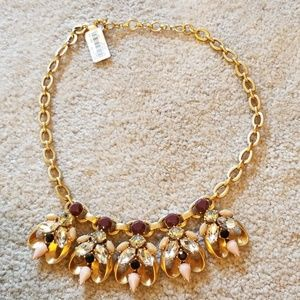 J. Crew gold rhinestone statement necklace